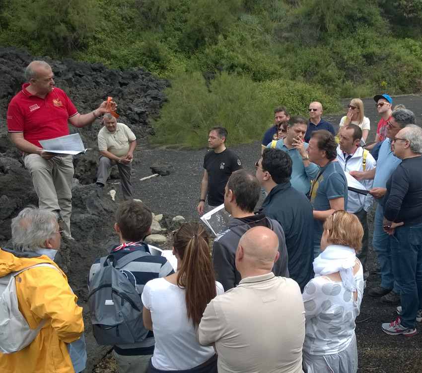 Etna Excursion: Orienteering
